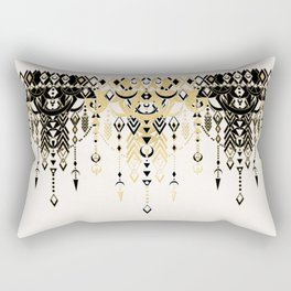 Modern Deco in Black and Cream Rectangular Pillow