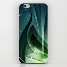 Green fantasy cover iPhone & iPod Skin