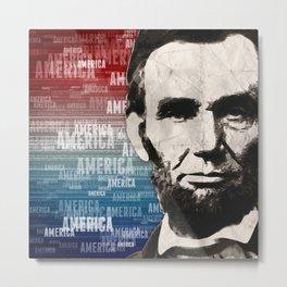 Patriot Abraham Lincoln Metal Print