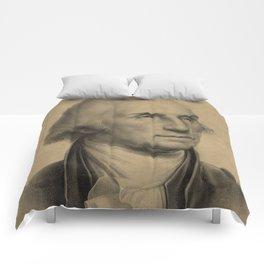 Vintage George Washington Portrait Illustration Comforters