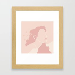 Pink Figure Abstract Design Framed Art Print