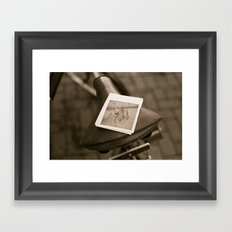 Bicycle, Cubed Framed Art Print