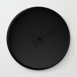 Realistic Carbon fibre structure Wall Clock