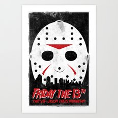 Friday The 13th Part VIII Art Print