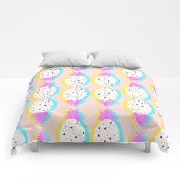 Pastel pineapples Comforters