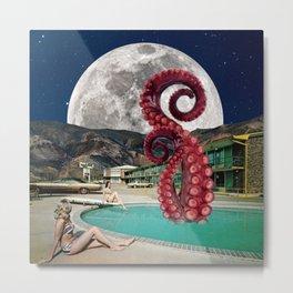 Octopus in the pool Metal Print