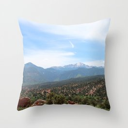 Spectacular View of Pike's Peak Throw Pillow