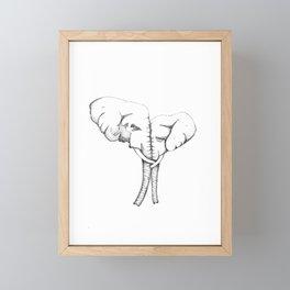 Two Elephants Framed Mini Art Print
