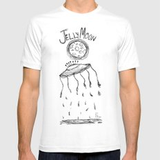 Jelly Moon V.2 MEDIUM Mens Fitted Tee White