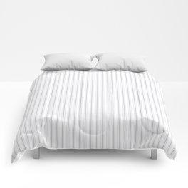 Soft Grey Mattress Ticking Narrow Striped Pattern - Fall Fashion 2018 Comforters