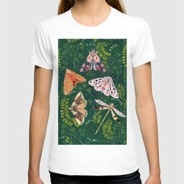 Moths and dragonfly T-shirt