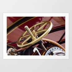 Brass steering wheel Art Print