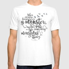 Six of Crows - Monster - White Mens Fitted Tee SMALL White