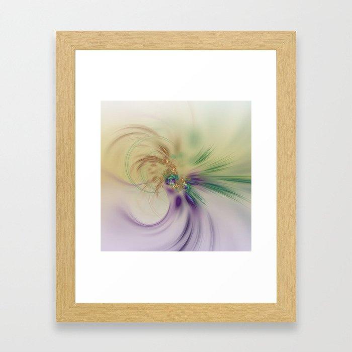 Fall Festive Fractal Framed Art Print