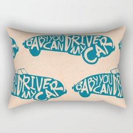 Baby You Can Drive My Car (Blue) Rectangular Pillow