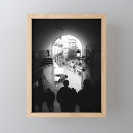 Salida Secreta de la Plaza Mayor - B&W street photography Framed Mini Art Print