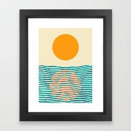 Ocean current Framed Art Print