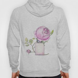 Fragrance bottle with rose flower Hoody