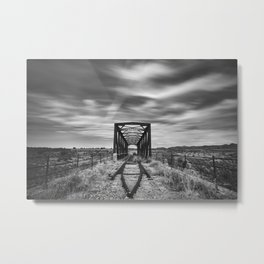 Grao train bridge. Abandoned railway bridge. 1906. Western locations. Metal Print