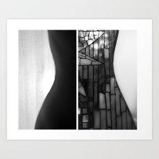 Woman/Guitar Art Print