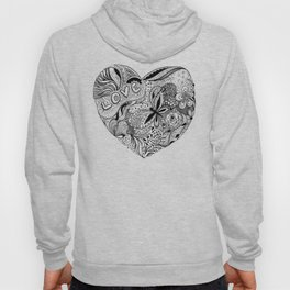 Floral heart for Valentines day Hoody