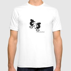 Mice White Mens Fitted Tee MEDIUM