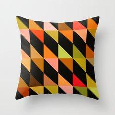 Autumn Triangle pattern Throw Pillow