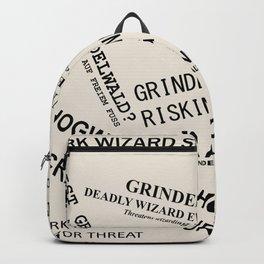 1926 Wizard Newspaper Headlines - Grindelwald Backpack