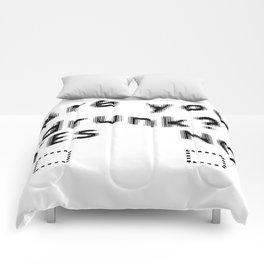 Are You Drunk Test For Partygoers Black Text Comforters