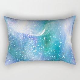 Blue, Purple and Green Neon Sparkle Rectangular Pillow