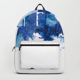 Surat India Skyline Blue Backpack