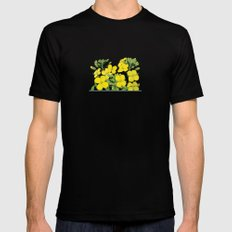 Summer flower in yellow MEDIUM Mens Fitted Tee Black