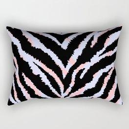 Pastel zebra fur texture - peachy and blue Rectangular Pillow