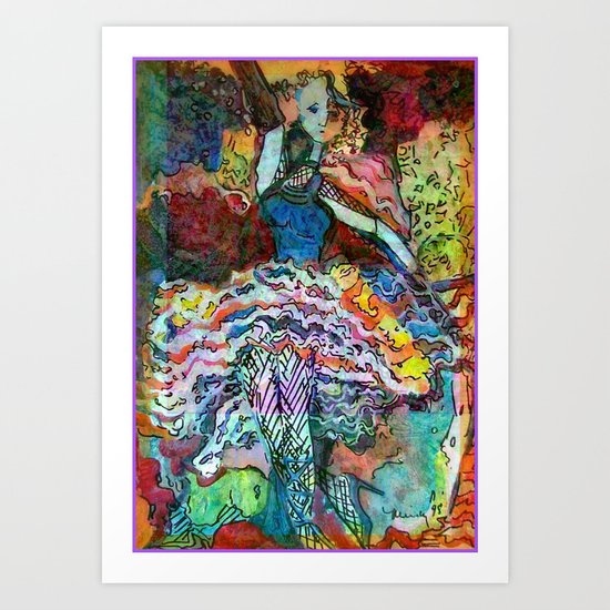Can Can Dancer Art Print