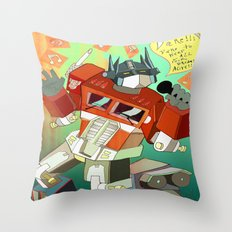 Optimus Prime DARE to keep your dreams alive! Throw Pillow