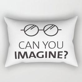 Can You Imagine John Classic Glasses Design Rectangular Pillow