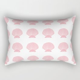 Coral Seashell Rectangular Pillow