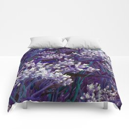 Bunches of Tiny Flowers Comforters