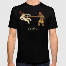 yoga. Mens Fitted Tee LARGE Black