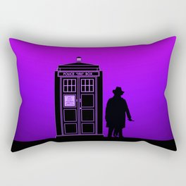 Tardis With The Fourth Doctor Rectangular Pillow