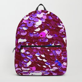 Heirloom Red Tomato Sequins With Blue Accents Backpack