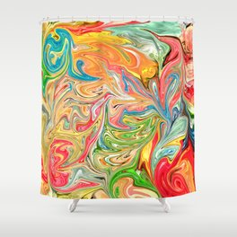 Melted Gummy Bears Shower Curtain