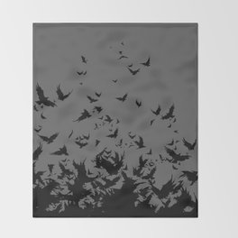 An Unkindness of Ravens (Grey) Throw Blanket