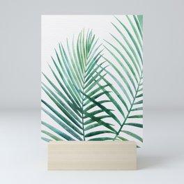 Emerald Palm Fronds Watercolor Mini Art Print