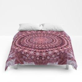 Boho Rosewood Mandala Comforters
