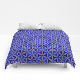 Flower of Life Blue Pattern Comforters