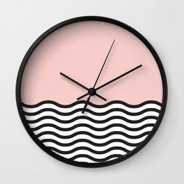 Waves of Pink Wall Clock