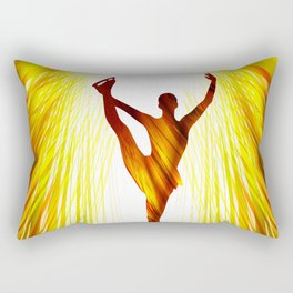 Ladies figure skating. Ballet dancer, ballerina. Winter sport ice rink Rectangular Pillow