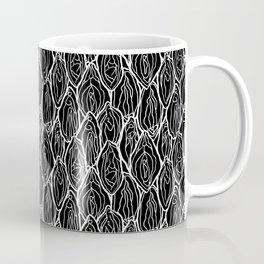 Vagina - Rama, Black with white outlines Coffee Mug