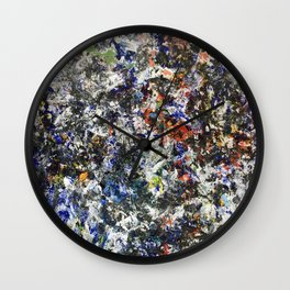 Made by Hand (oil on canvas) Wall Clock